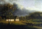 Jens Juel A Storm Brewing Behind a Farmhouse in Zealand oil painting